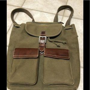 Fossil Backpack 10552 Expedition Olive Canvas